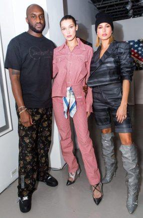 Virgil Abloh, Bella Hadid, Hailey Baldwin